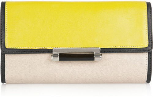 Diane von Furstenberg Gracie leather clutch