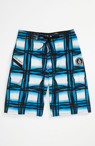 Volcom 'Wavey Plaid' Board Shorts (Big Boys)