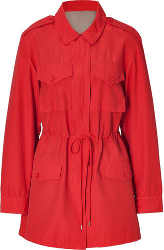Marc by Marc Jacobs Flame Scarlet Brice Coat with Zip