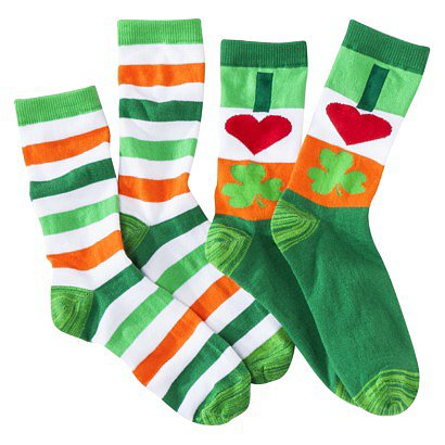 Xhilaration Juniors St. Patrick's Day Crew Socks ($5)