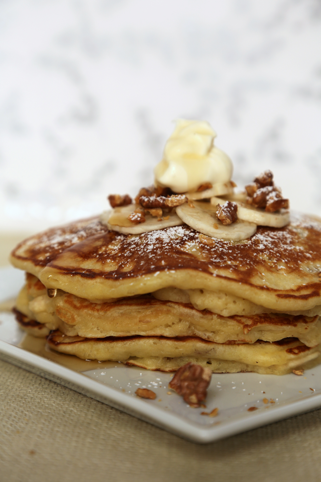 moist, with a nice crunch from the walnuts, these banana nut pancakes ...