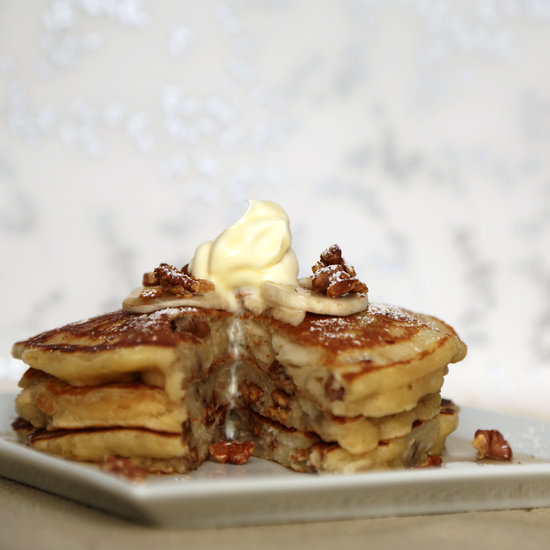 ... pancakes is adding mix-ins , and these banana walnut pancakes are a