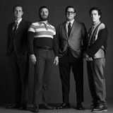 Aaron Staton, Jay R. Ferguson, Rich Sommer, and Ben Feldman on Mad Men.