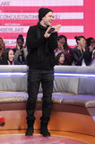 Justin Timberlake addressed his fans at BET's 106 and Park.