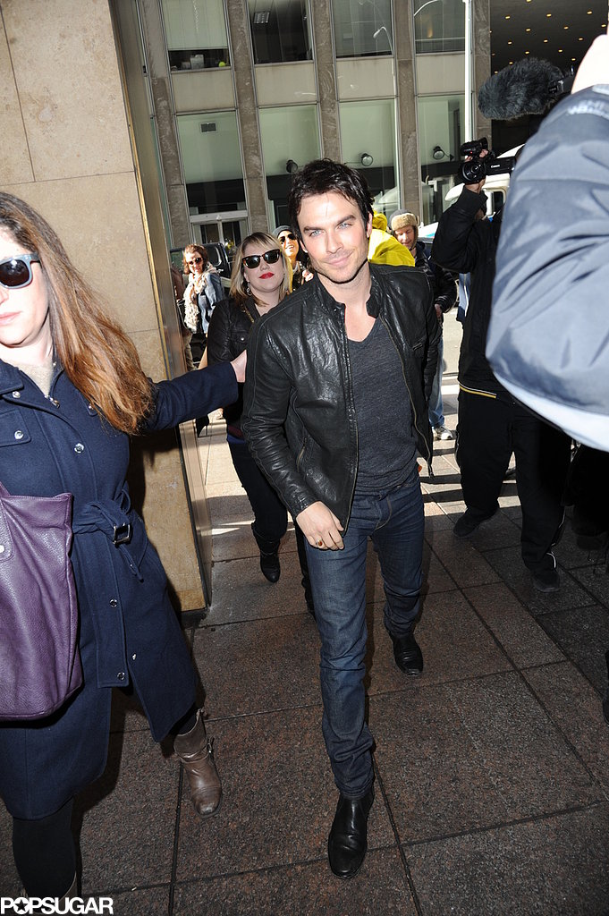 Ian Somerhalder was on the press trail in NYC.
