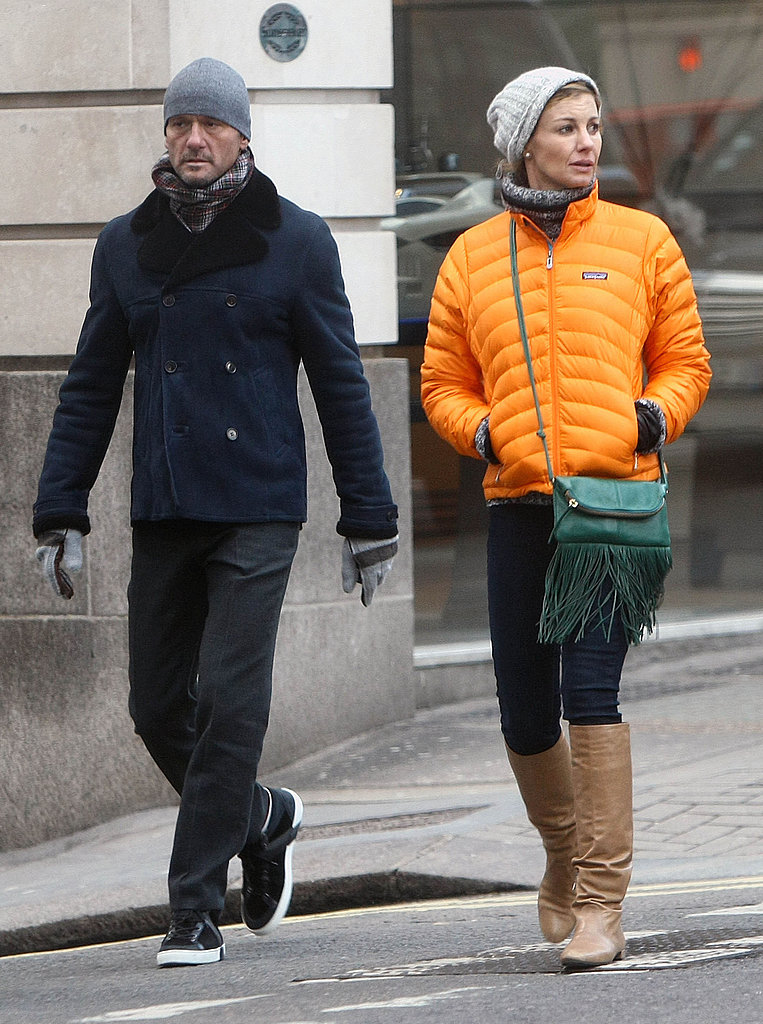 Tim McGraw and Faith Hill walked in London with their family.