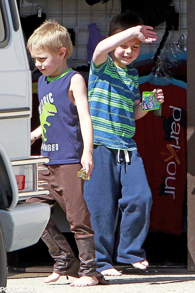 Britney Spears took her sons, Jayden James Federline and Sean Preston Federline, to gymnastics in LA.