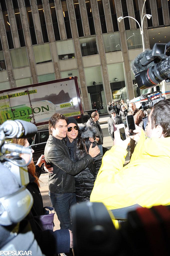 Ian Somerhalder Stops in NYC and Stays Quiet on Fifty Shades