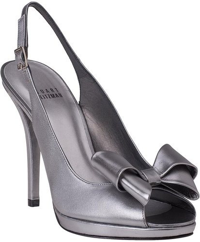 STUART WEITZMAN EVENING Jumbo Black Satin