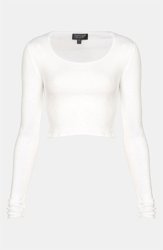 Topshop Long Sleeve Crop Tee