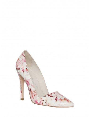 Dina Cherry Blossom Printed Smooth Printed Heel