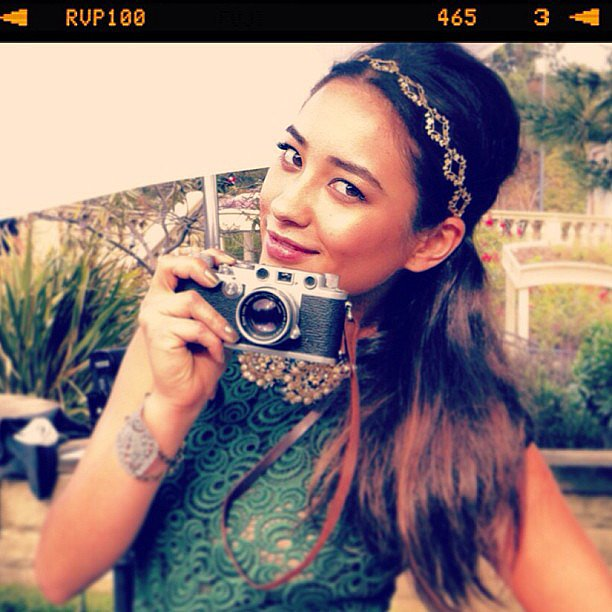 Shay Mitchell showed off a pretty pompadour and glitzy headband from her Teen Vogue cover shoot.