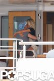 Julianne Hough jumped into Ryan Seacrest's arms during a Fourth of July trip to St.-Tropez in 2010.