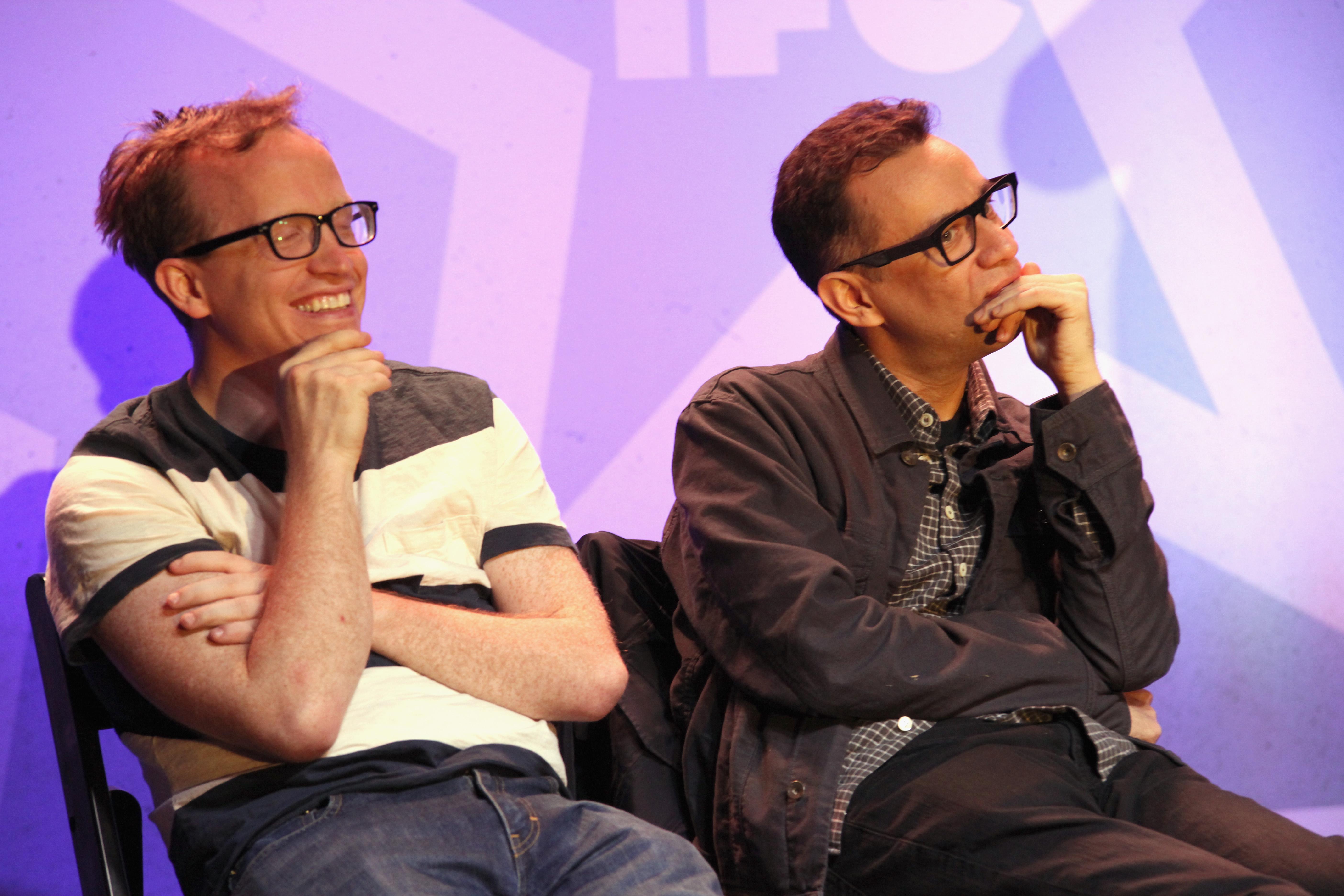 Fred Armisen and Chris Gethard sat for Stranger Than Fiction.