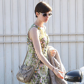 Anne Hathaway Carrying Stella McCartney Bag