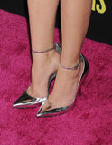Here's a closer look at Ashley Benson's slick metallic Monika Chiang pumps on the Spring Breakers LA premiere red carpet.