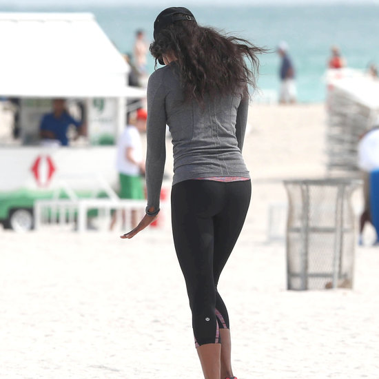 Guess Which Supermodel Worked Out at the Beach?