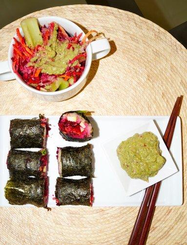 (Vegan) Deconstructed Sushi Bowl & Rolls