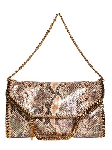Three Chain Faux Python Falabella Bag