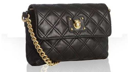 Marc Jacobs black quilted leather 'The Single' chain strap bag