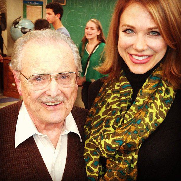 Mr. Feeny (William Daniels) returns! Source: Instagram user amaitlandbaxter