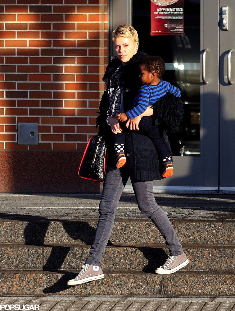 Charlize Theron carried Jackson Theron in Boston.