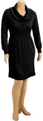 Women's Plus Cowl-Neck Sweater Dresses
