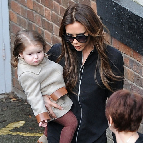 Harper Beckham Walking in London