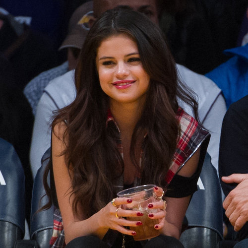 Selena Gomez, Julianne Hough, and Nina Dobrev at Lakers Game