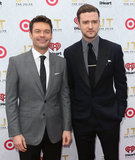 Ryan Seacrest and Justin Timberlake both wore suits.