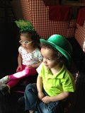 Mariah Carey's kids Moroccan and Monroe wore festive hats in 2013.  Source: Twitter user MariahCarey