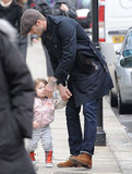 Harper Beckham walked ont he streets of London.