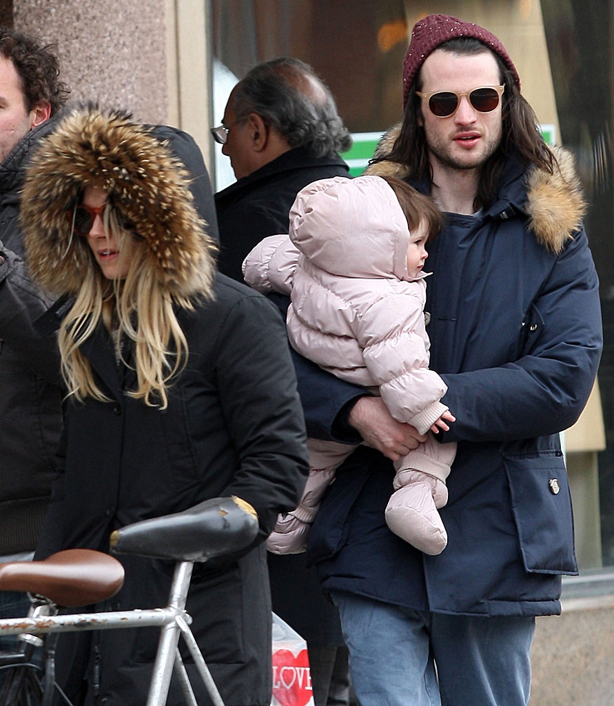 Sienna Miller and Tom Sturridge were accompanied by daughter Marlowe for a walk in chilly NYC on Sunday.
