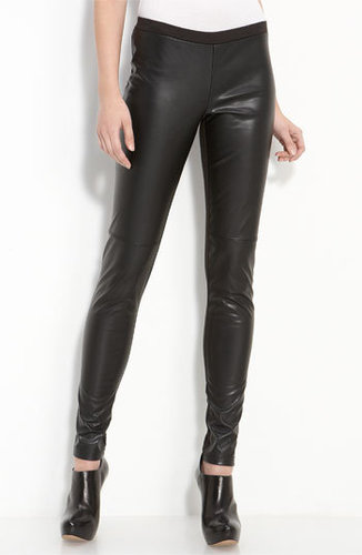 Trouvé Faux Leather Front Leggings