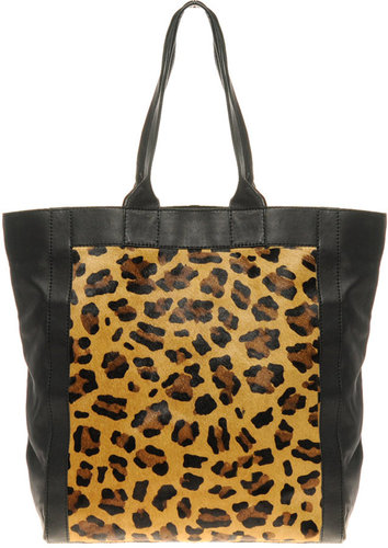 ASOS Limited Edition Leather Leopard Print Shopper