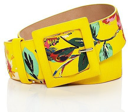 In full bloom extra wide printed belt