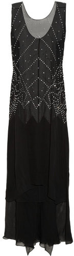 Thomas Wylde Tattooed embellished silk-chiffon dress