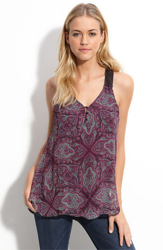 Ella Moss &#039;Jewel Box&#039; Printed Silk Tank