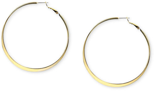 Nine West Earrings, Gold-Tone Hoop Earrings