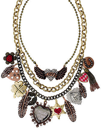 Betsey Johnson &#039;Lady Luck&#039; Multi Row Charm Necklace