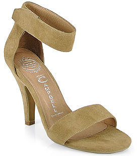 Jeffrey Campbell - Hough - Suede Sandal in Nude