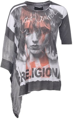 Religion Shes lost control laddered tshirt