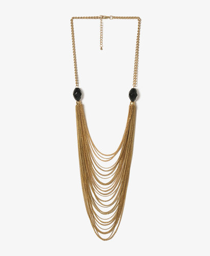 FOREVER 21 Draped Chain Swag Necklace