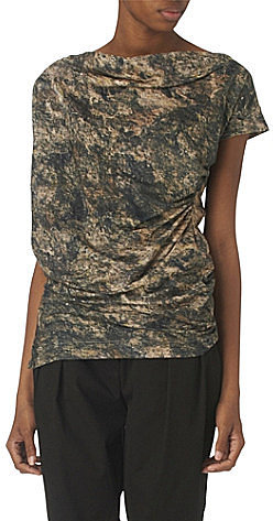 Anglomania Draped printed top