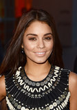 Perfect for olive skin tones, Vanessa Hudgens's neutral makeup palette packed quite the punch. Smoke up your eyes like Vanessa with shimmering brown and gold shadows. Finish the strikingly monochromatic look with bronzer and a nude lip hue.