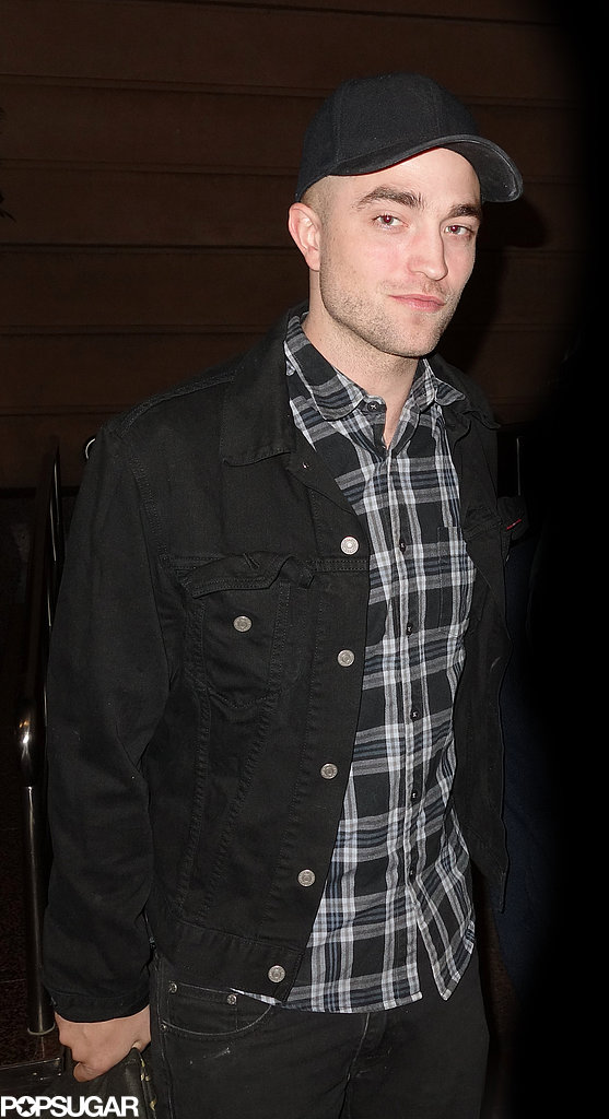 Robert Pattinson wore a plaid shirt in Australia.