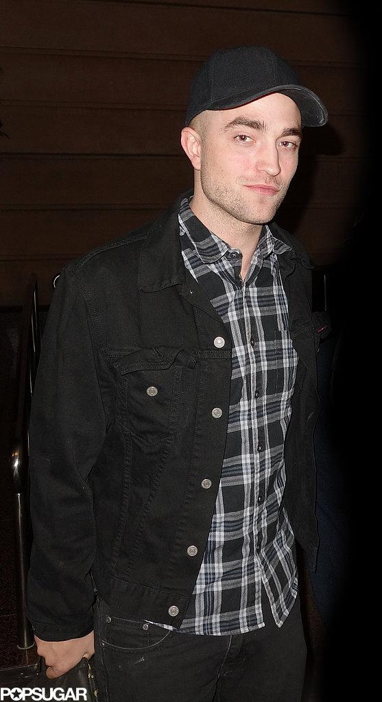 Robert Pattinson wore a plaid shirt in Australia.