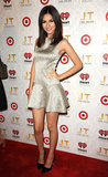 Victoria Justice shined in a metallic minidress.