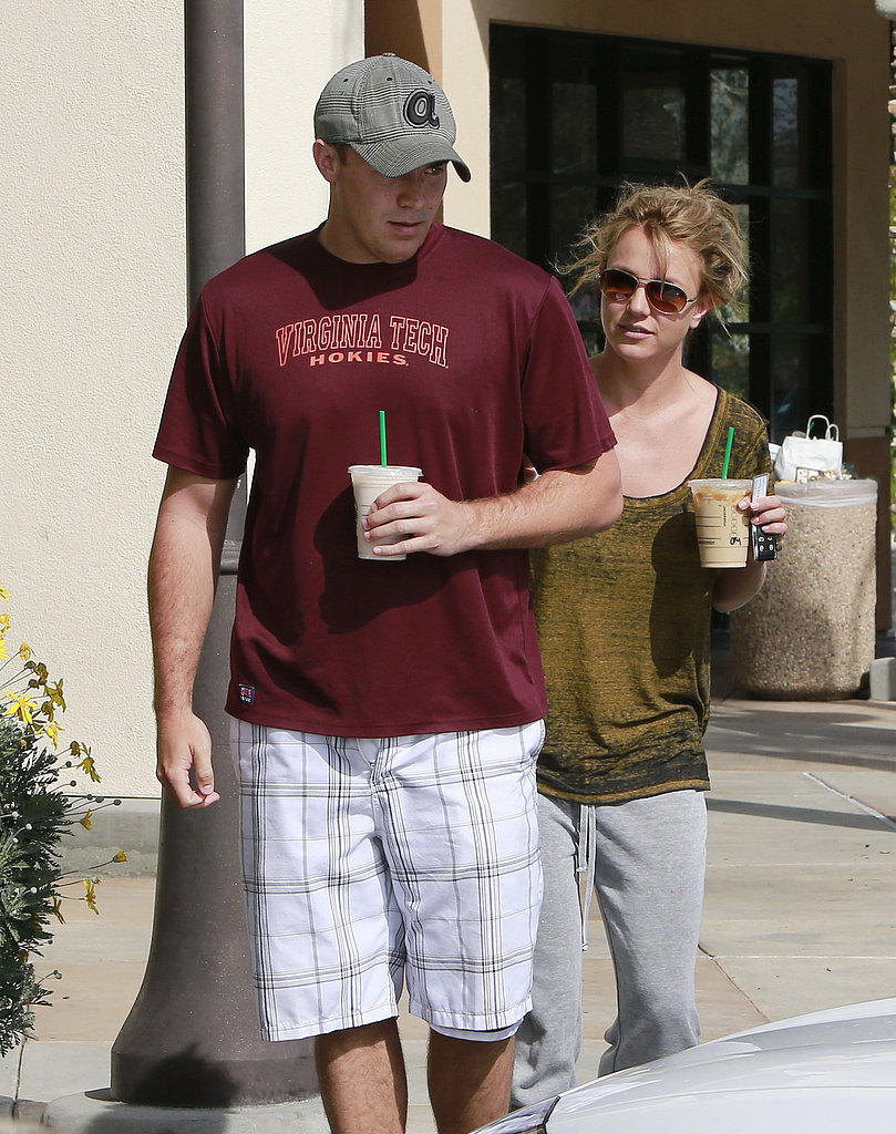 Britney Spears kept it casual during a coffee outing with her rumored new boyfriend, David Lucado.