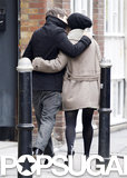 Keira Knightley kissed fiancé James Righton during a London stroll.